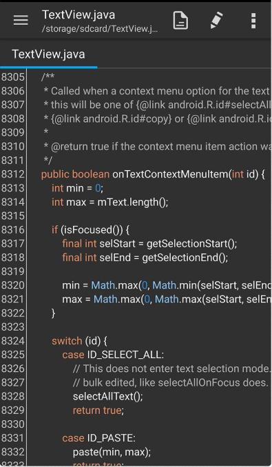安卓文本编辑器 QuickEdit 已付费专业中文版