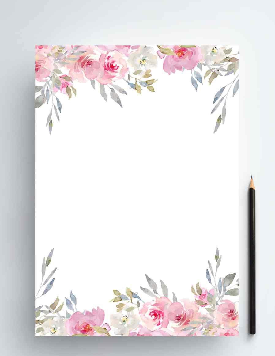 原创手绘水彩花卉贺卡背景婚礼元素装饰背景 PSD